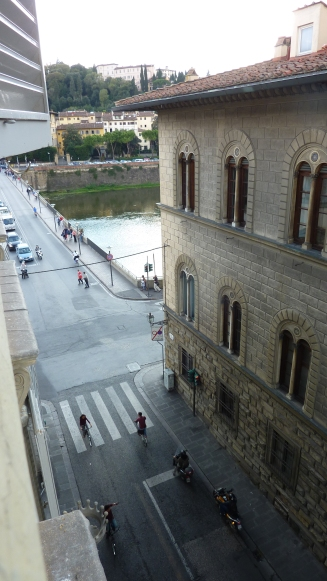 View of Arno River from Florence apartment