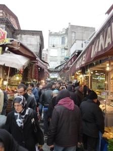 Outside the Spice Bazaar, Istanbul
