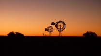 Windmills at Oom Benna's campsite, Northern Cape, South Africa