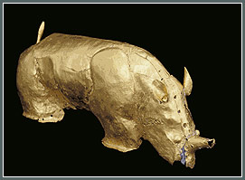 Golden Rhino unearthed at Mapungubwe archaeological site, northern South Africa