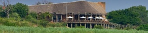 Deck at Lower Sabie restcamp, an excellent spot for a sundower and game viewing