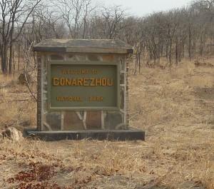 Entrance to Gonarezhou National Park, Zimbabwe