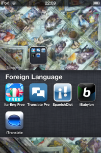The smorgasborg of translator apps and foreign dictionaries I carry on my iPod Touch