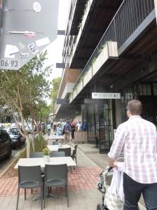 Sidewalk cafes in Maboneng