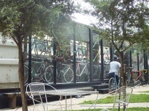 Shipping container-turned-bike shop, Maboneng Precinct