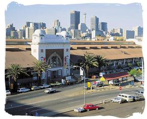 Museum of Africa, with downtown Johannesburg in background