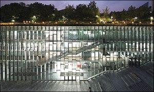 Underground campus building