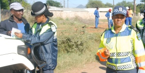 Traffic stop in Botswana.  Courtesy of http://www.police.gov.bw/news-details.php?news=758
