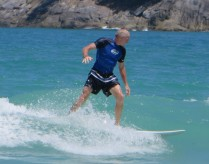 KC surfing in Phuket, Thailand