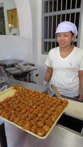 Fish balls in Old Phuket Town street food cart