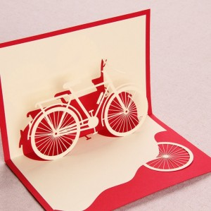 2014-new-year-laser-cut-invitations-novelty-item-bike-decoupage-3d-pop-up-font-b-cards